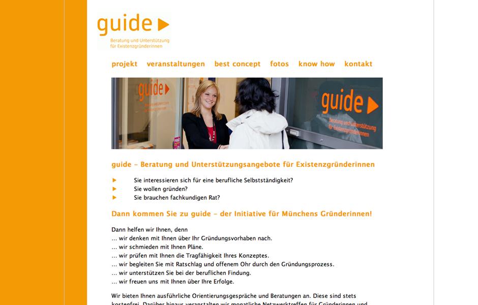 projekt guide münchen – Website-Konzept