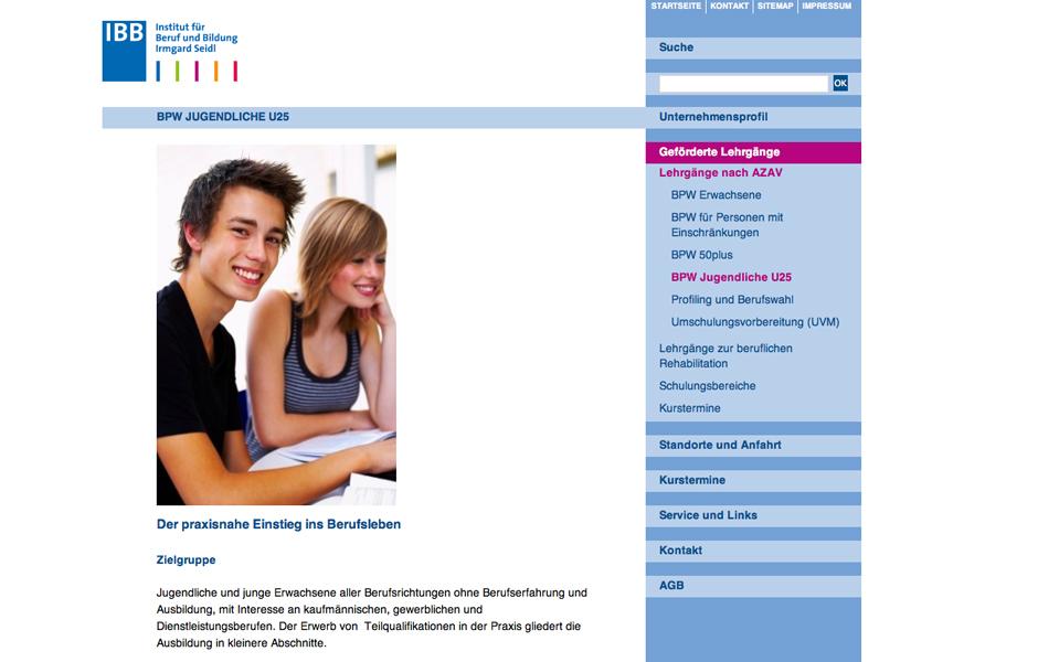 Institut für Beruf und Bildung Irmgard Seidl – Konzept und Betreuung